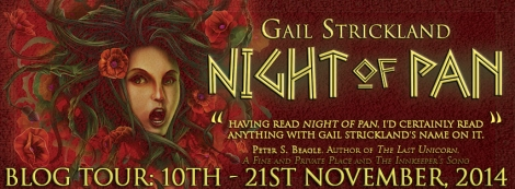 night of pan gail strickland blog tour