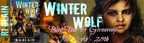 winter wolf witch & wolf novel rj blain drunk on pop book blast giveaway