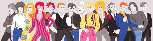 david bowie changes michele rosenthal illustration