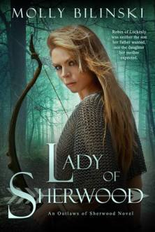 lady of sherwood Molly Bilinski Outlaws of Sherwood #1 book cover