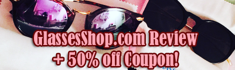 glassesshop.com review plus coupon code banner drunk on pop sponsored post