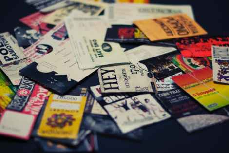 concert tickets pile stock photo pexels