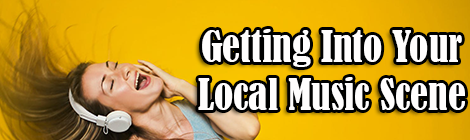 Getting Into Your Local Music Scene guest post banner drunk on pop