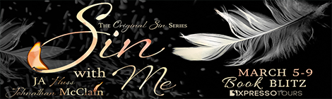 sin with me JA Huss & Johnathan McClain book blitz banner drunk on pop xpresso book tours