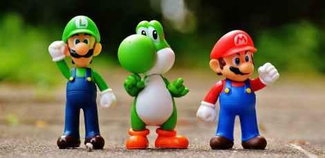 mario-luigi-yoshi-figures-163036 stock photo nintendo amibo gaming