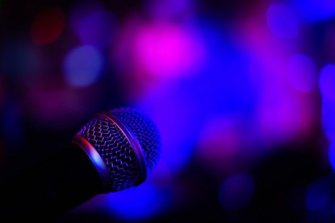 neon lights microphone music performance live music flickr stock photo