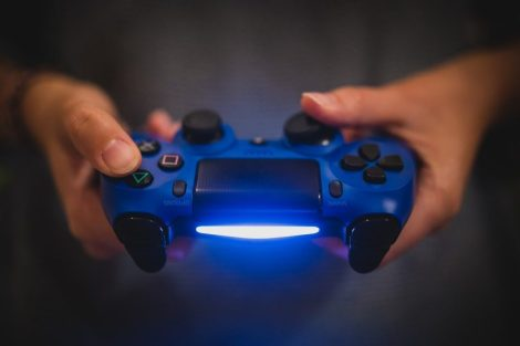 sony playstation controller video games gamer stock photo