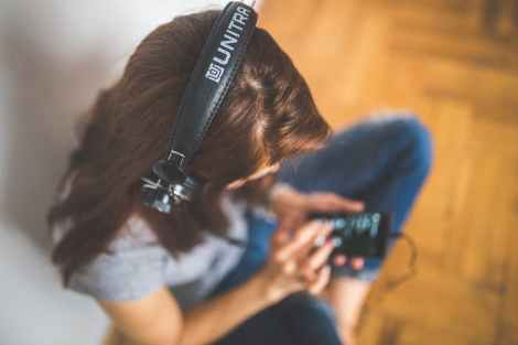 woman technology music headphones stock photo pexels