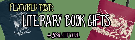 drunk on pop featured post literary book gifts t shirts tote bags discount code banner