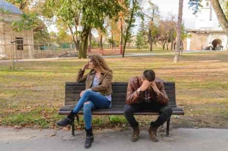 couple breakup heartbreak outdoors stock photo pexels-photo-984949