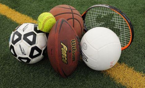 Sports balls play games stock photo