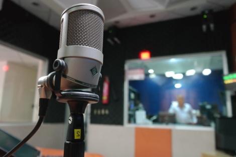 recording microphone stock photo